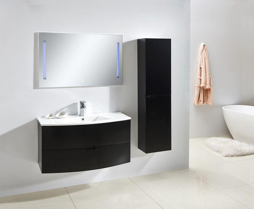 badm bel unterschrank alba 100 in schwarz inkl waschtisch glasdeals. Black Bedroom Furniture Sets. Home Design Ideas
