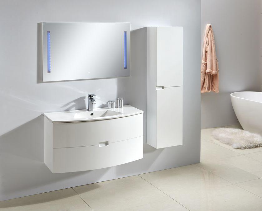 Badmöbel Unterschrank ALBA 100 in weiß inkl. Waschtisch