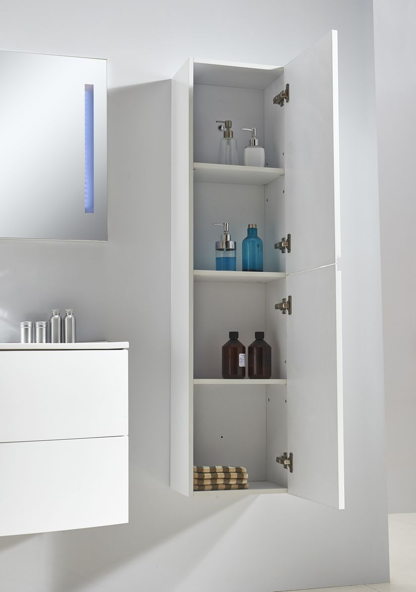 Badmöbel Seitenschrank ALBA in weiß