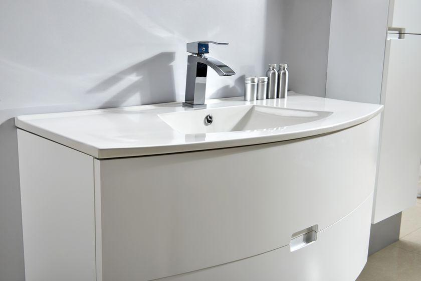 badm bel unterschrank alba 100 in wei inkl waschtisch glasdeals. Black Bedroom Furniture Sets. Home Design Ideas