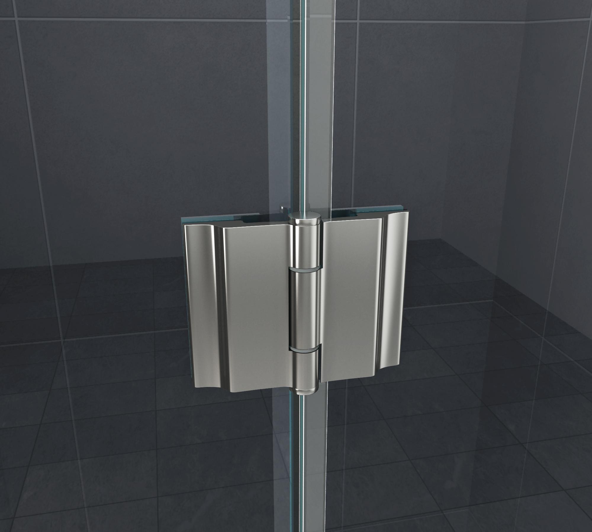 Duschkabine ANGOLO 80 x 80 x 180 cm (Viertelkreis) ohne ...
