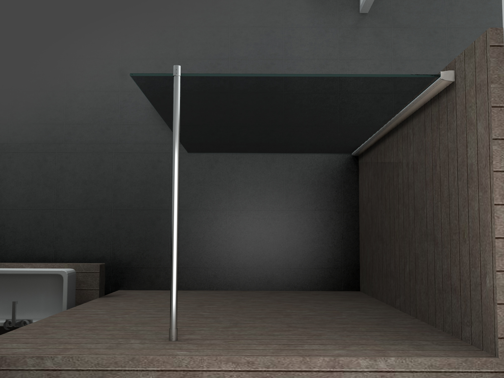 10 mm Duschwand AQUOS-SMOKE 120 x 200 cm