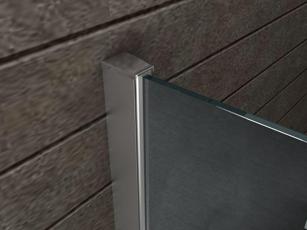 10 mm Spiegelglas Duschwand AQUOS-MIRROR 120 x 200 cm