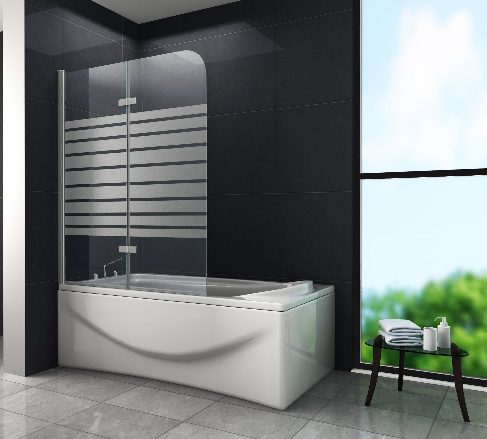 Duschtrennwand BREASE-FROST 100 x 140 (Badewanne)