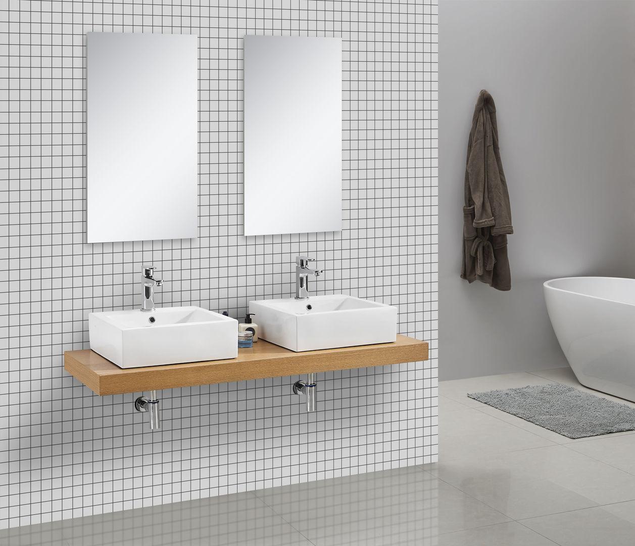 Waschtischkonsole CADENA 150 x 50 cm, Echtholz (Eiche)