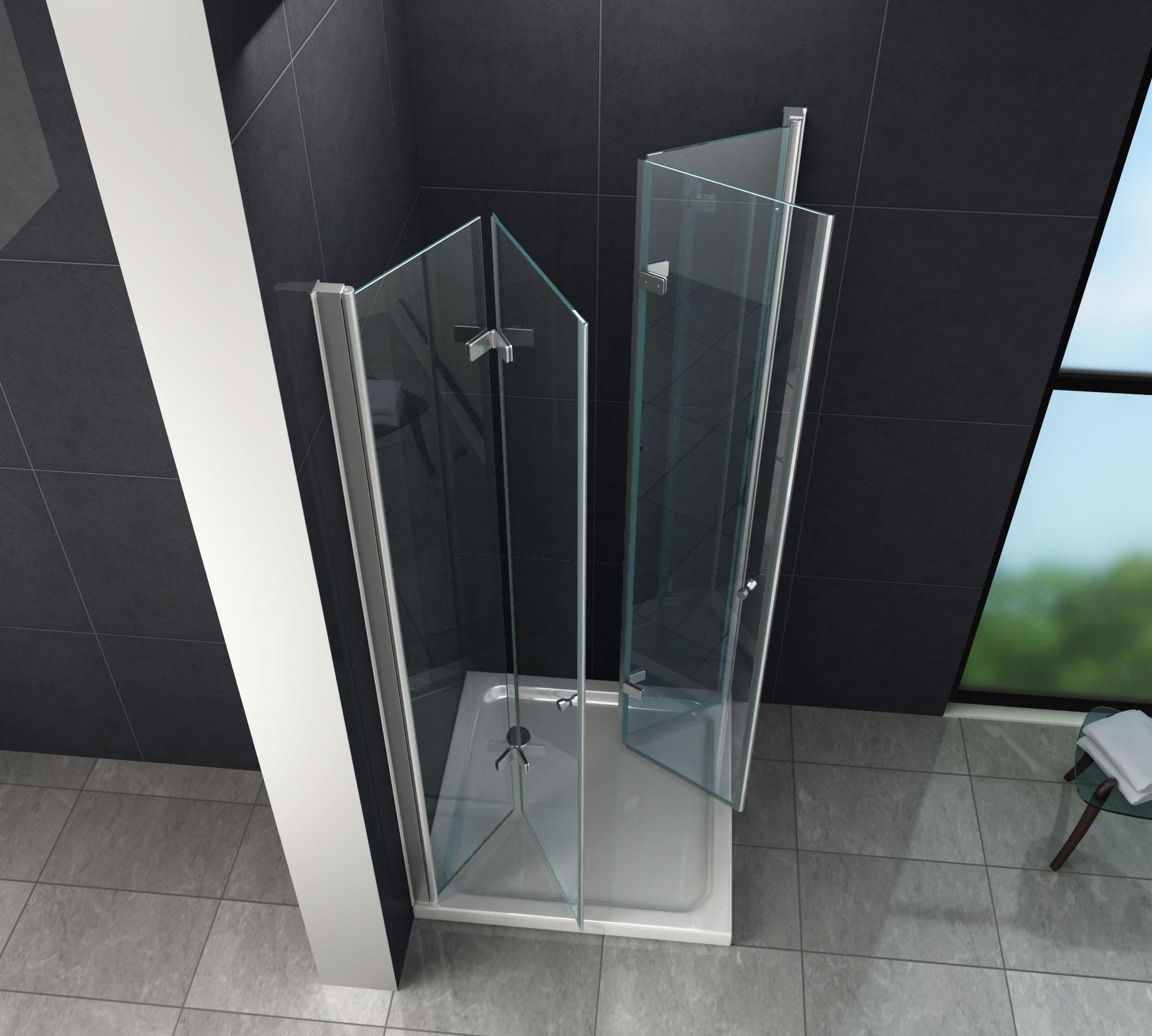 Cabine de douche CLAP 100 x 80 x 195 cm sans receveur de douche