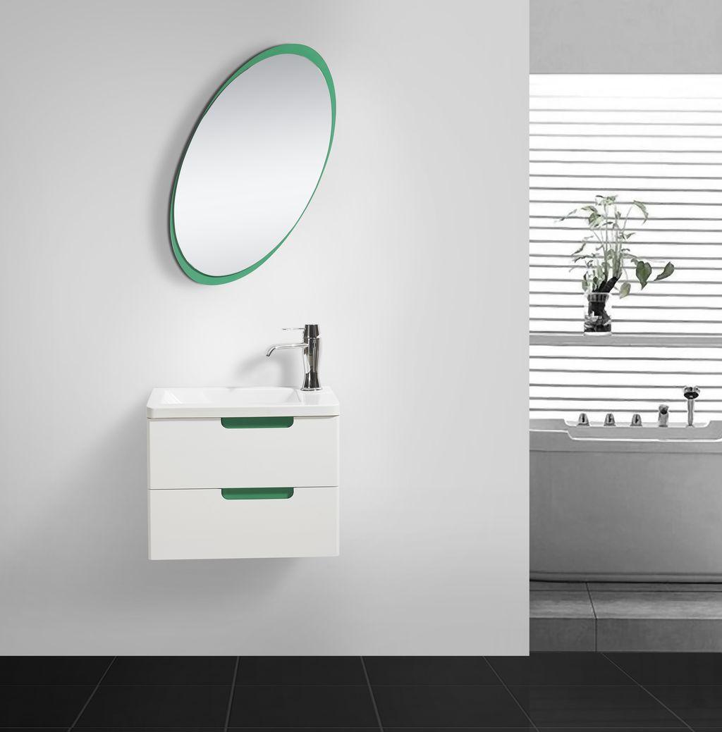 Badmöbel Set COLORI 55 in weiß-grün