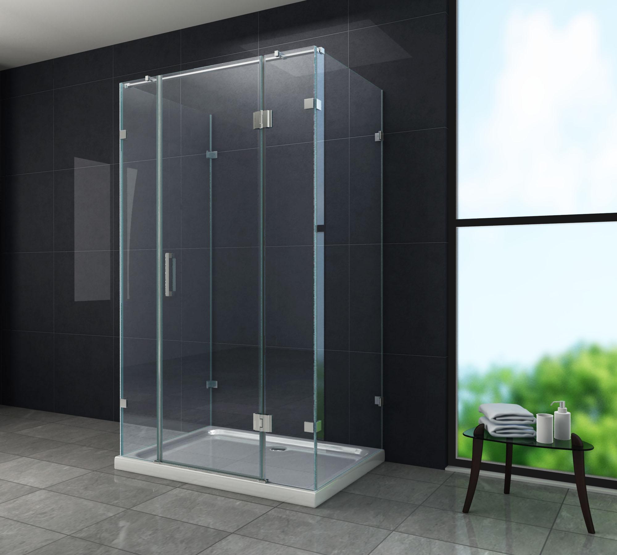 U-Duschkabine CONTORNO 120 x 80 x 195 ohne Duschtasse