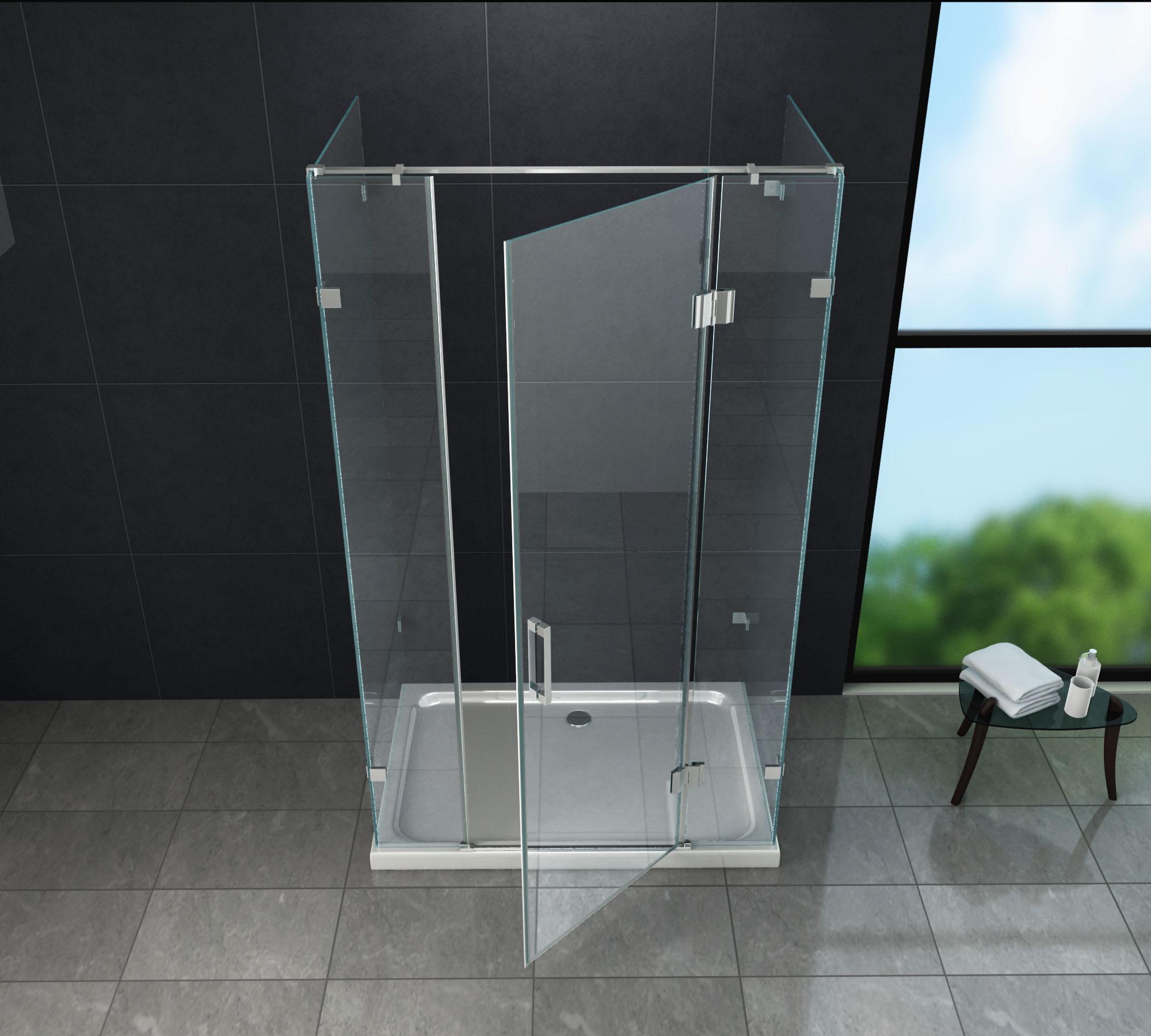 u duschkabine contorno 120 x 80 x 195 ohne duschtasse glasdeals. Black Bedroom Furniture Sets. Home Design Ideas