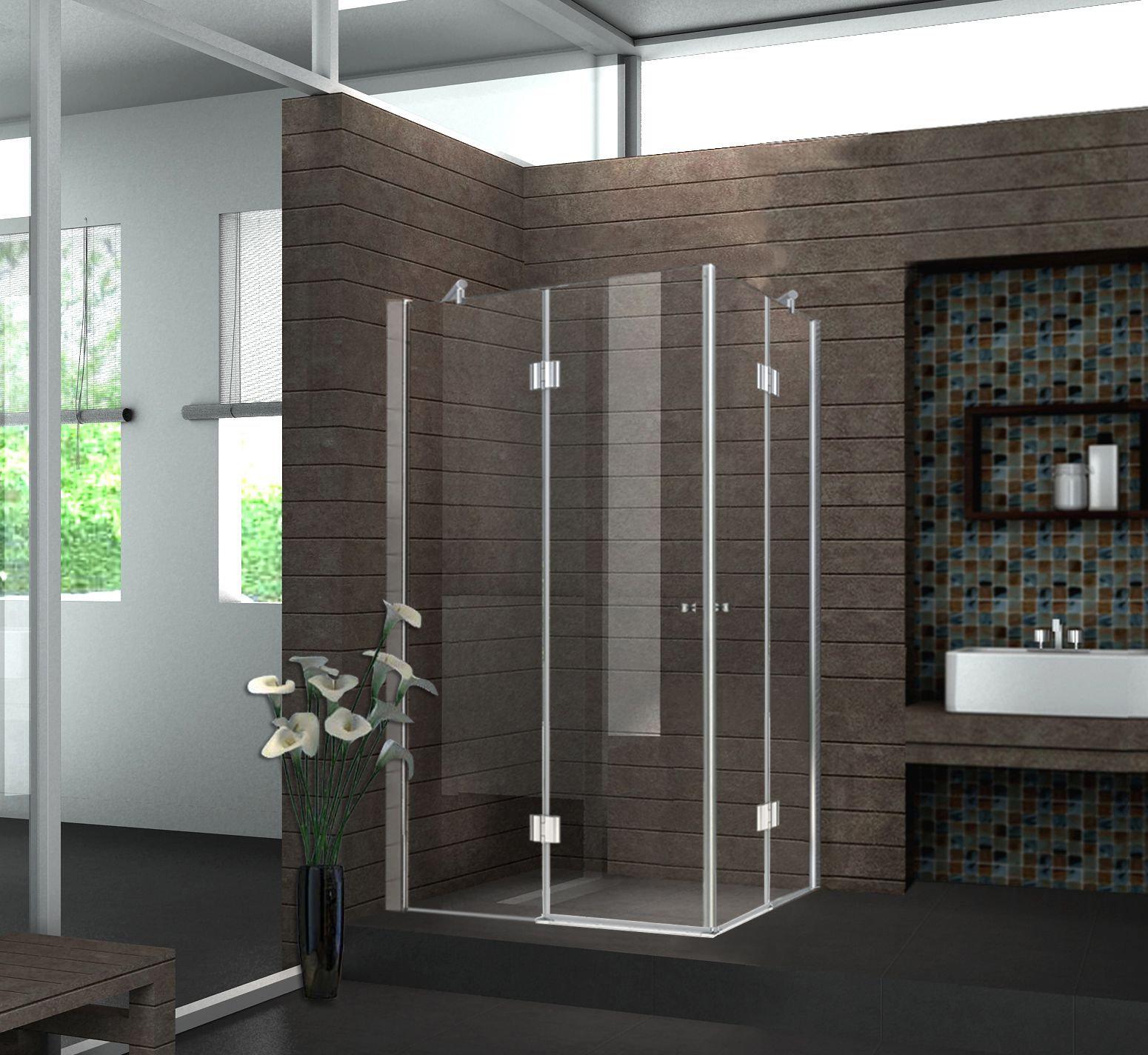 Duschkabine CORNO 120 x 120 x 195 cm ohne Duschtasse