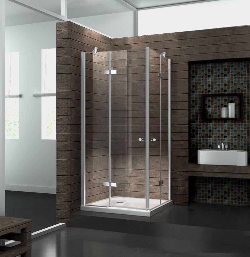 Duschkabine CORNO 90 x 90 x 195 cm ohne Duschtasse
