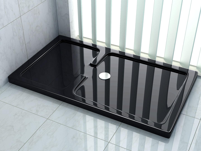 50 mm Duschtasse für OPEN 150 x 90 cm (schwarz)