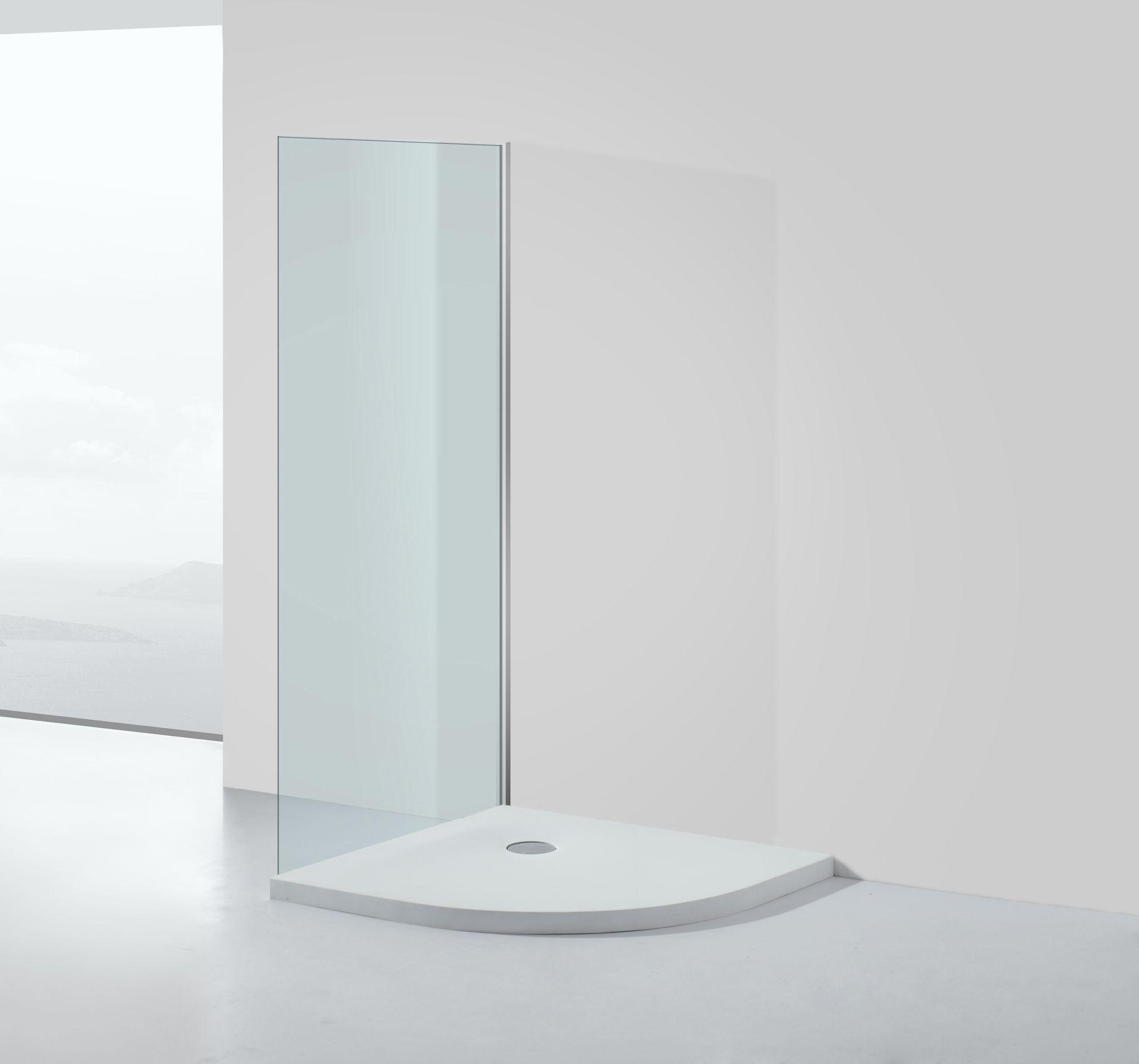 Mineralguss - Duschtasse 80 x 80 x 5 cm (Viertelkreis)