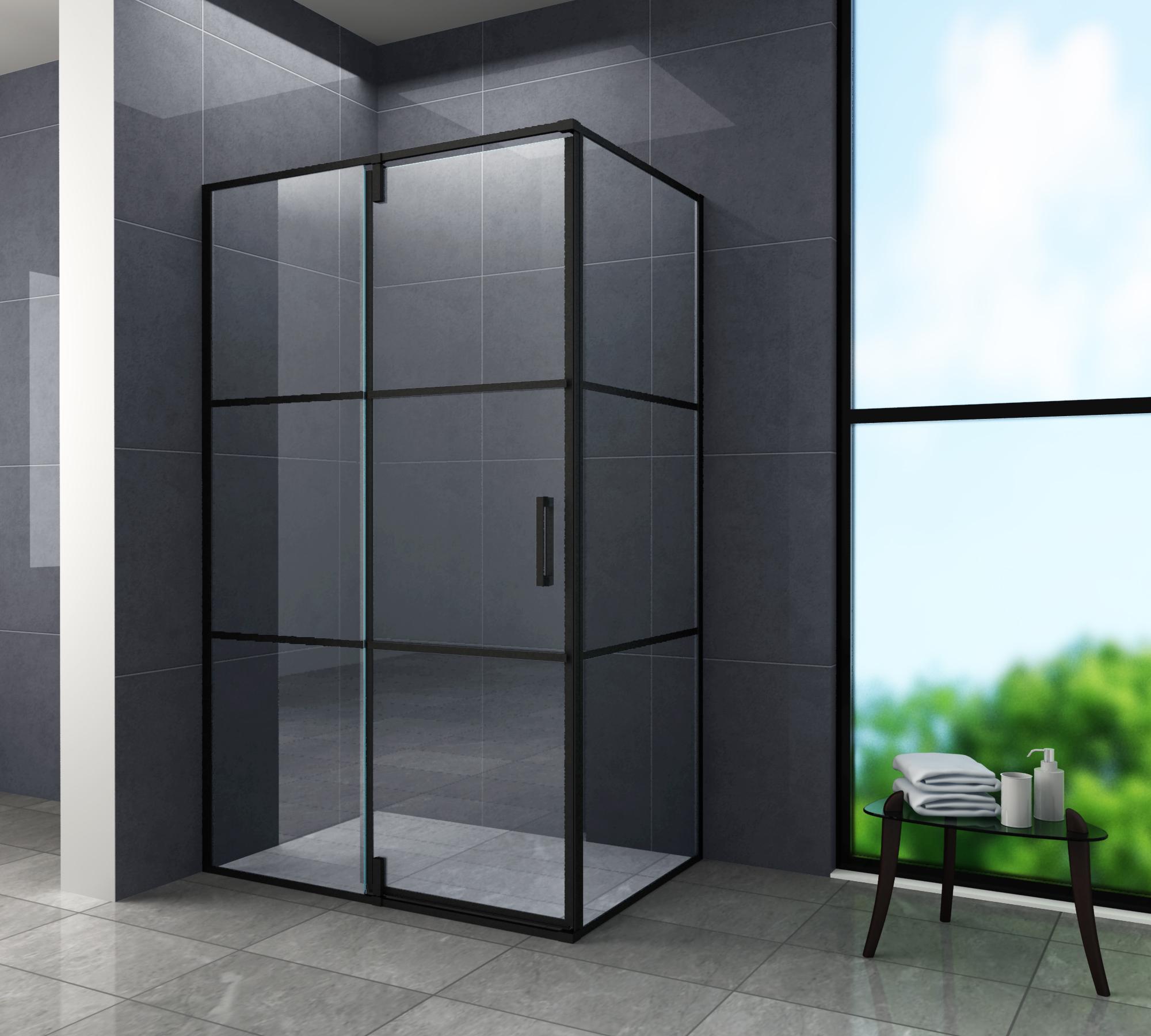 Duschkabine FABRICO 120 x 90 x 195 cm ohne Duschtasse