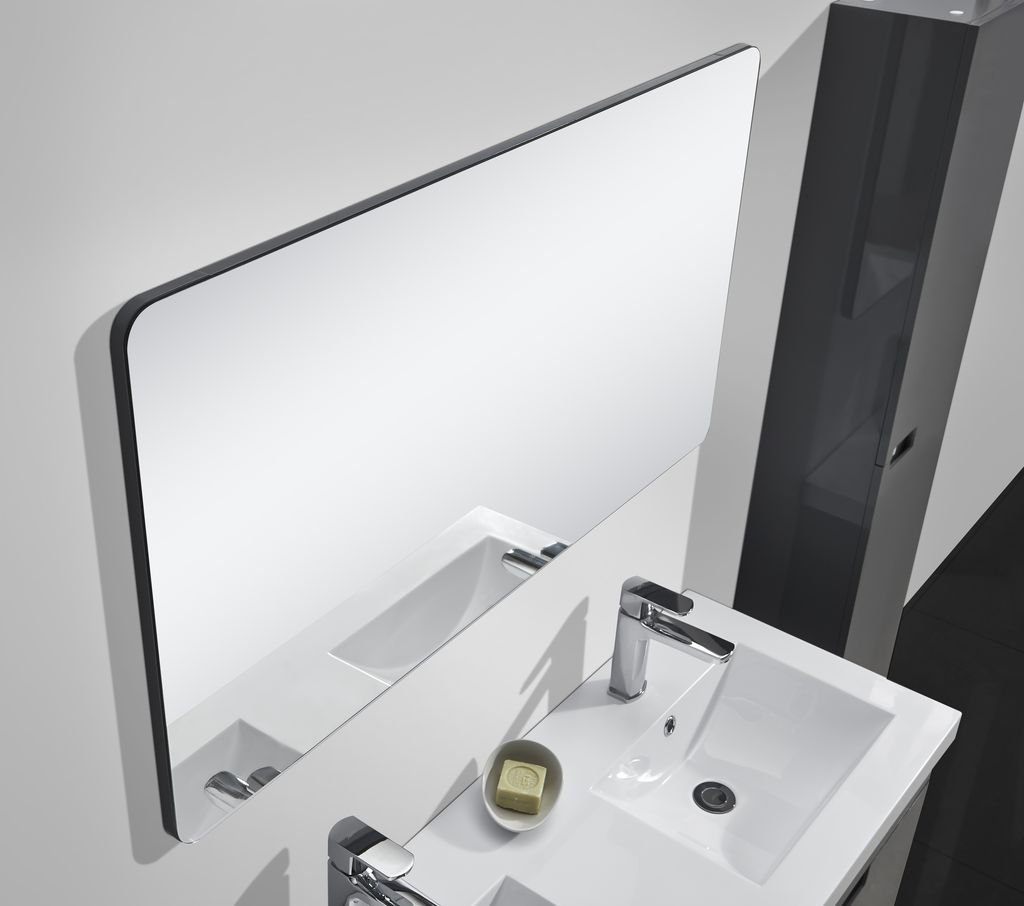 Badmöbel-Set GLOSSO 120 (hochglanz-grau)