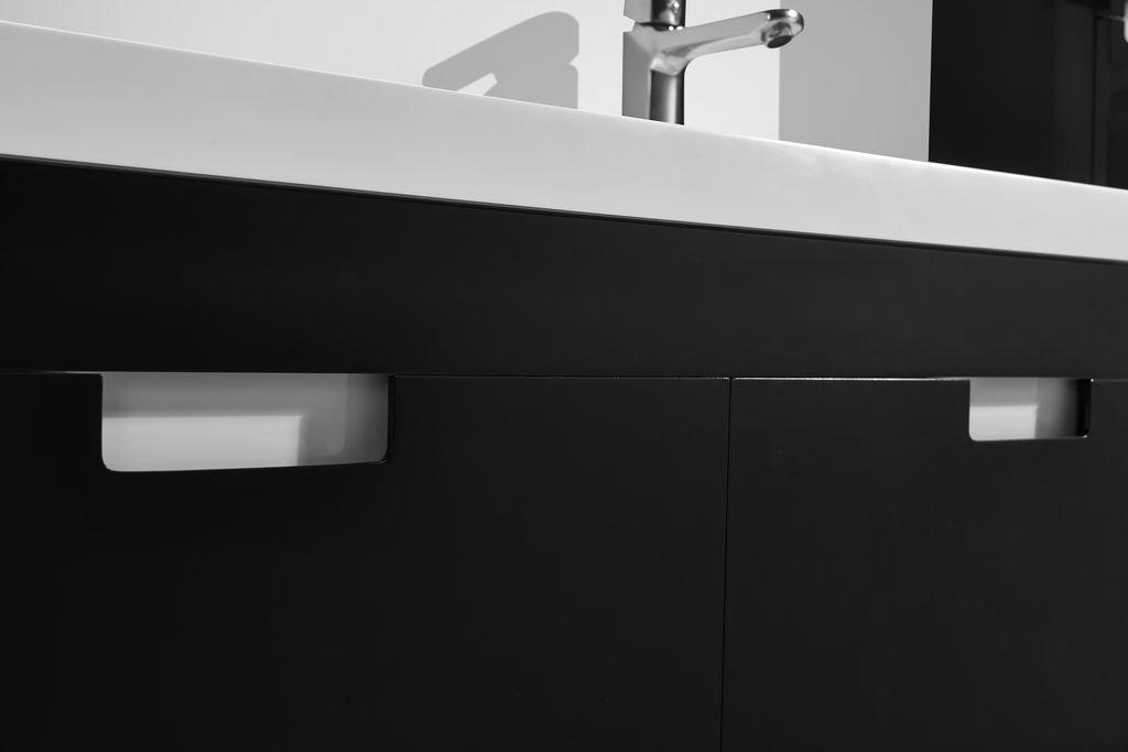 Badmöbel-Set GLOSSO 120 (hochglanz-schwarz)