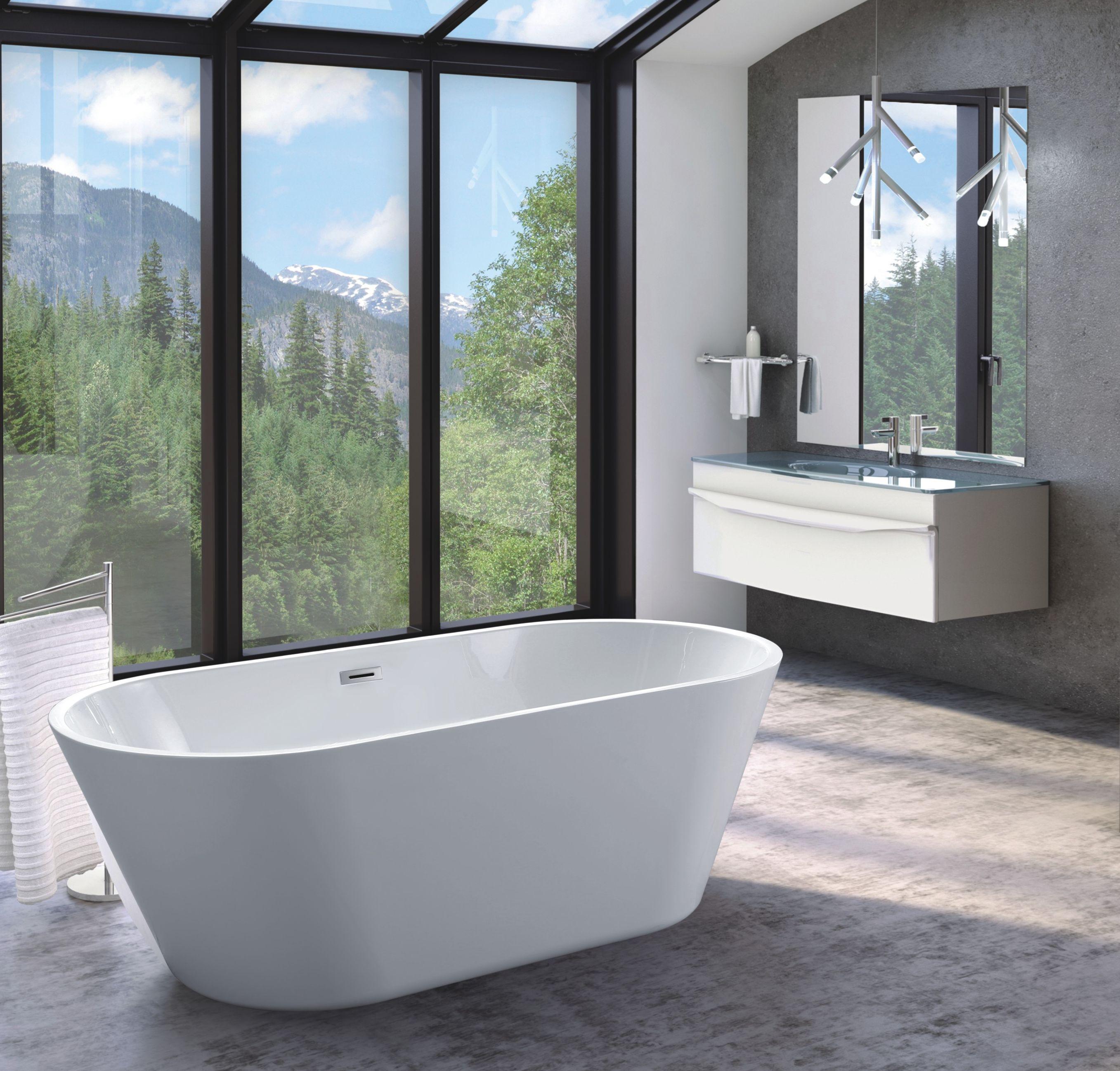 Freistehende Badewanne HORNO - 180