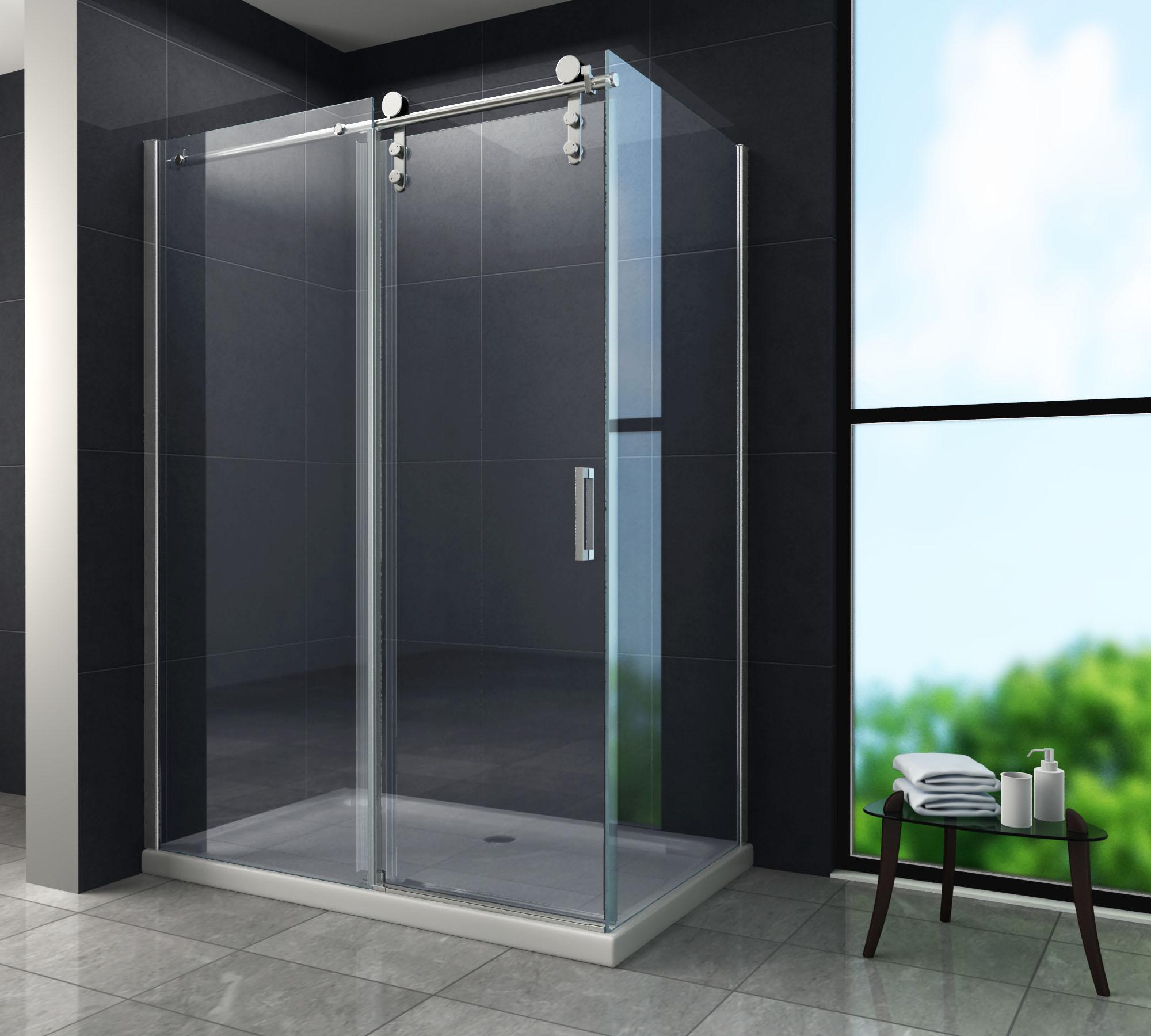 Duschkabine LARGOS 150 x 90 x 195 cm ohne Duschtasse