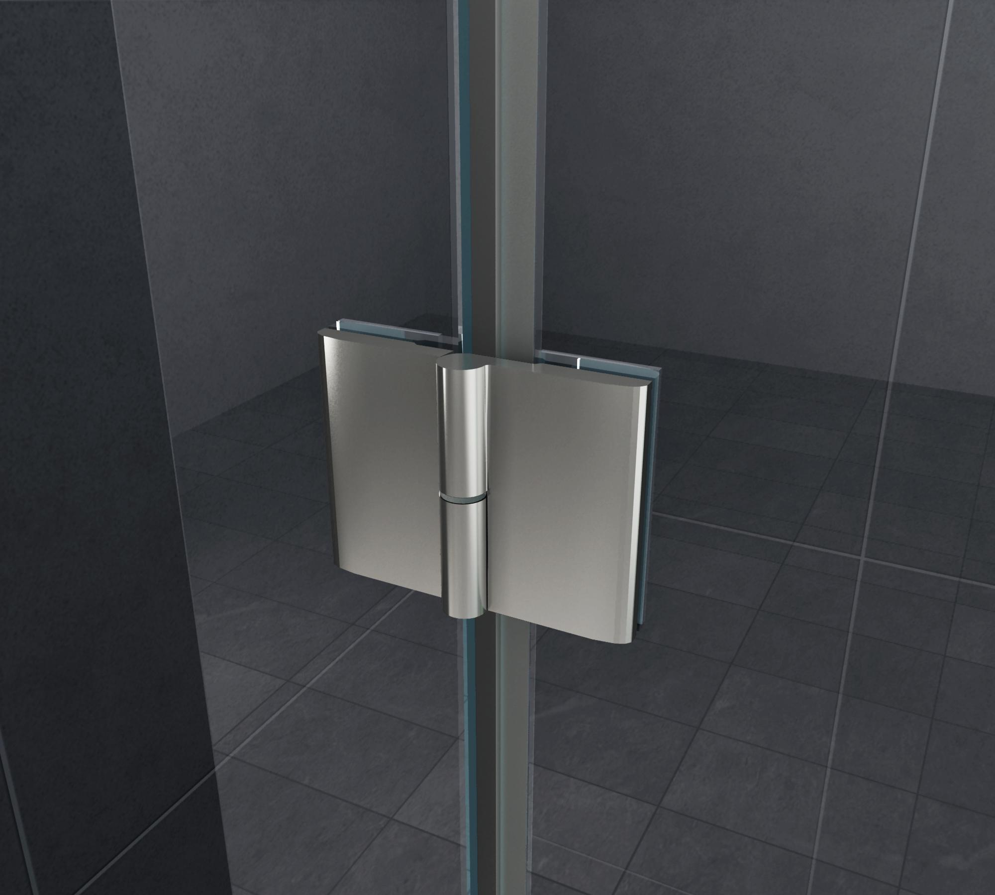 rahmenlose duschkabine luxorline 90 x 90 x 195 cm ohne duschtasse glasdeals. Black Bedroom Furniture Sets. Home Design Ideas