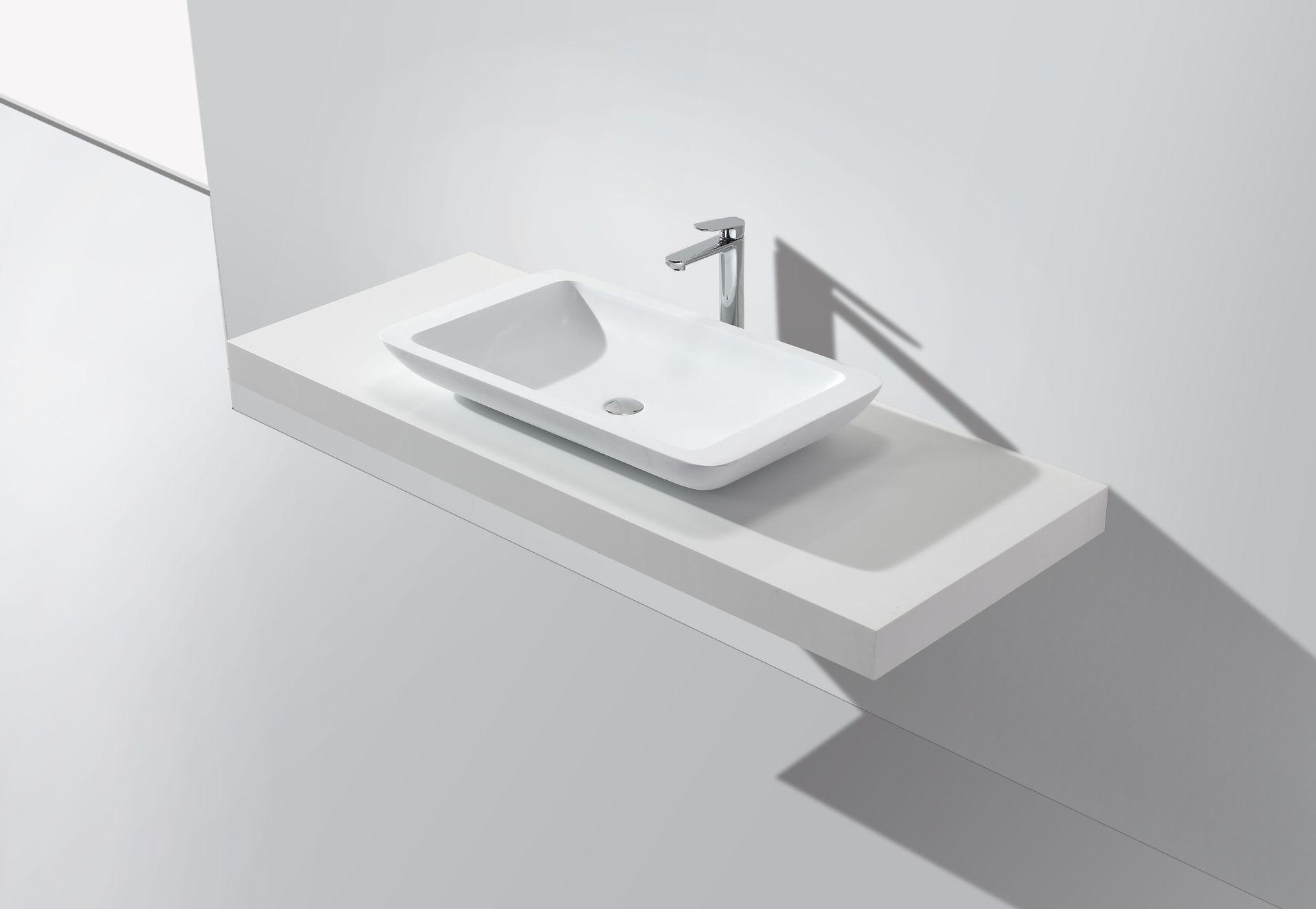Mineralguss-Aufsatzwaschtisch MAW2324 (80 cm)