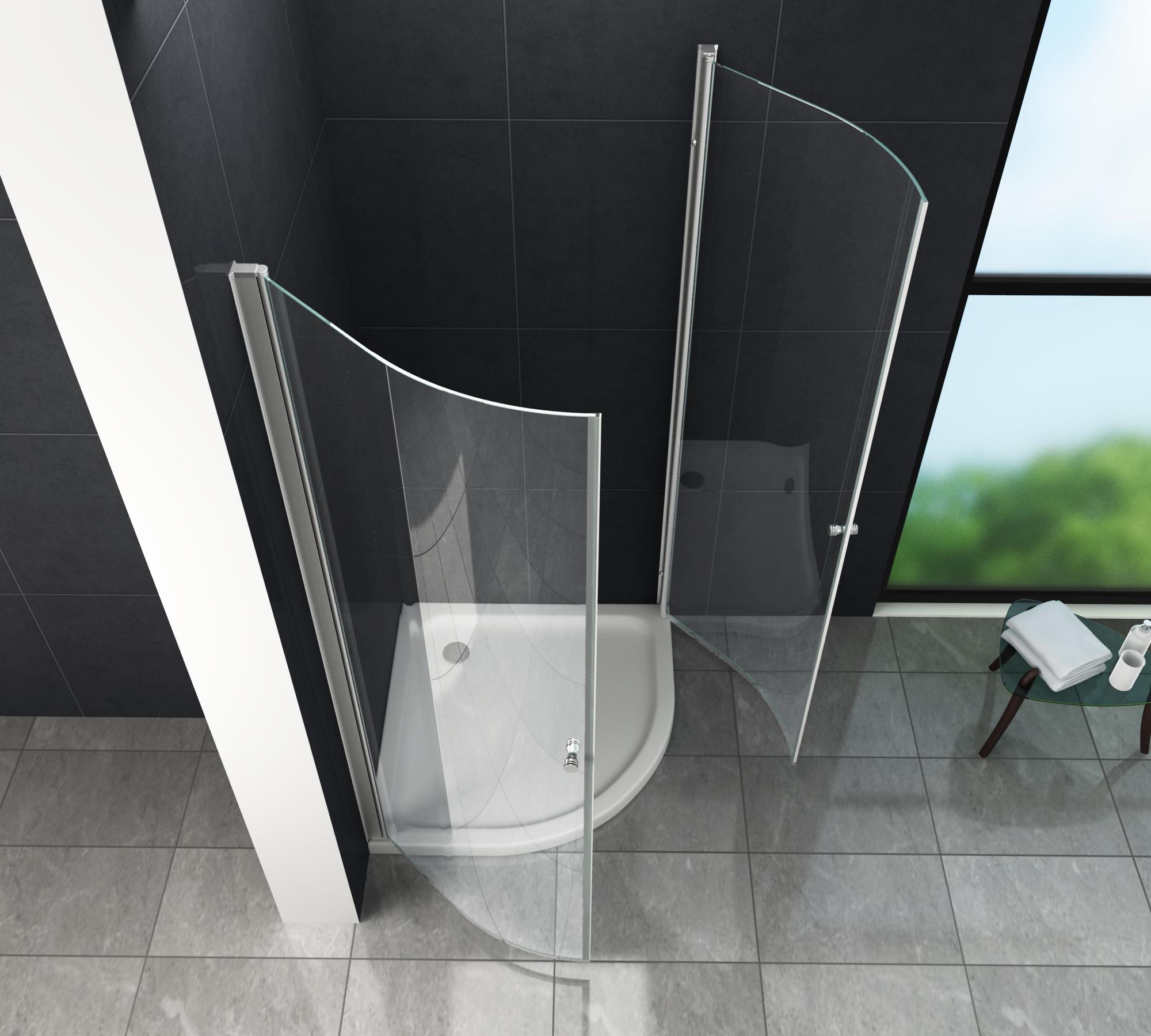 Duschkabine MARISO 80 x 80 x 190 Viertelkreis ohne ...
