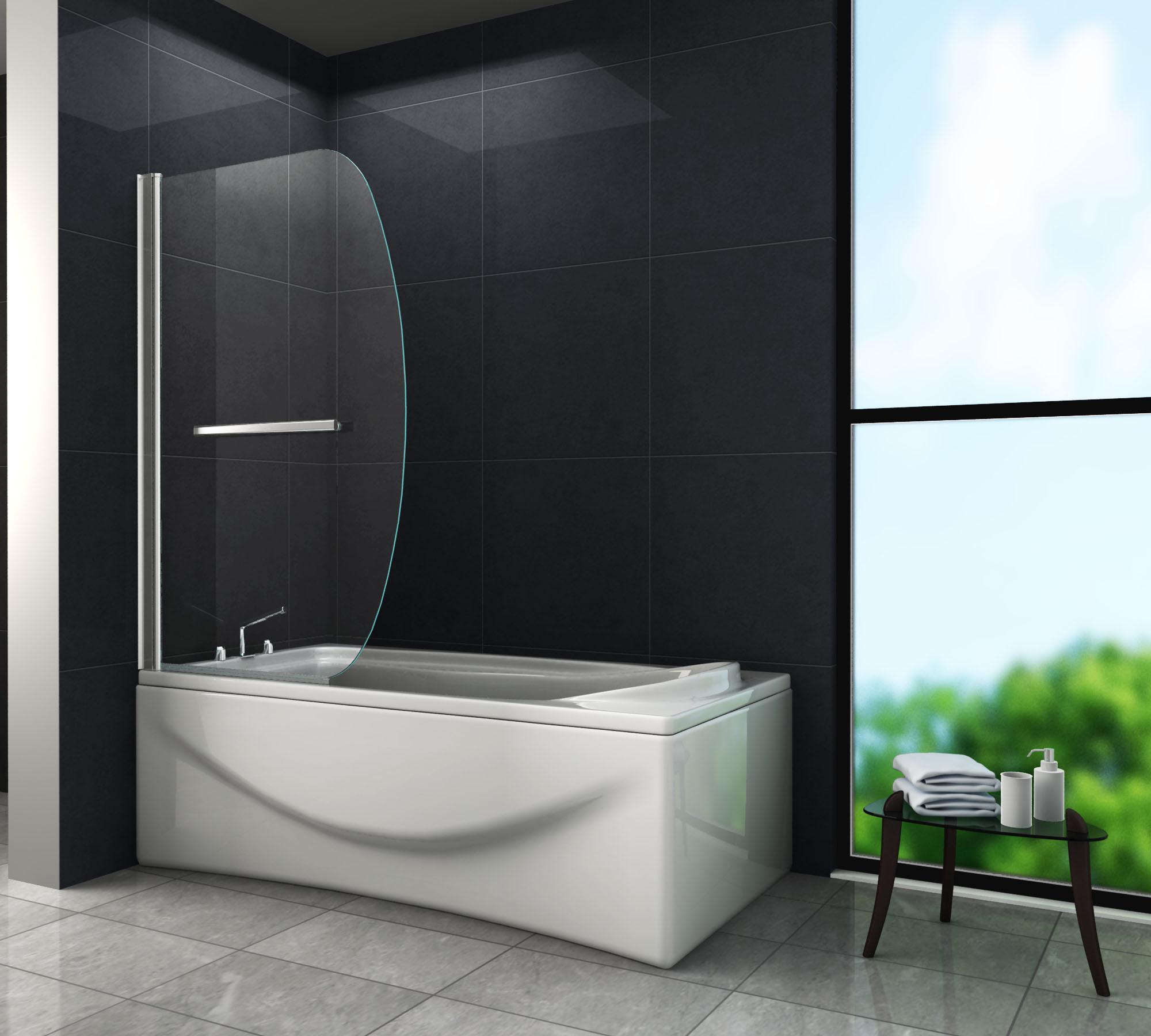 duschtrennwand moon 90 x 140 badewanne glasdeals. Black Bedroom Furniture Sets. Home Design Ideas