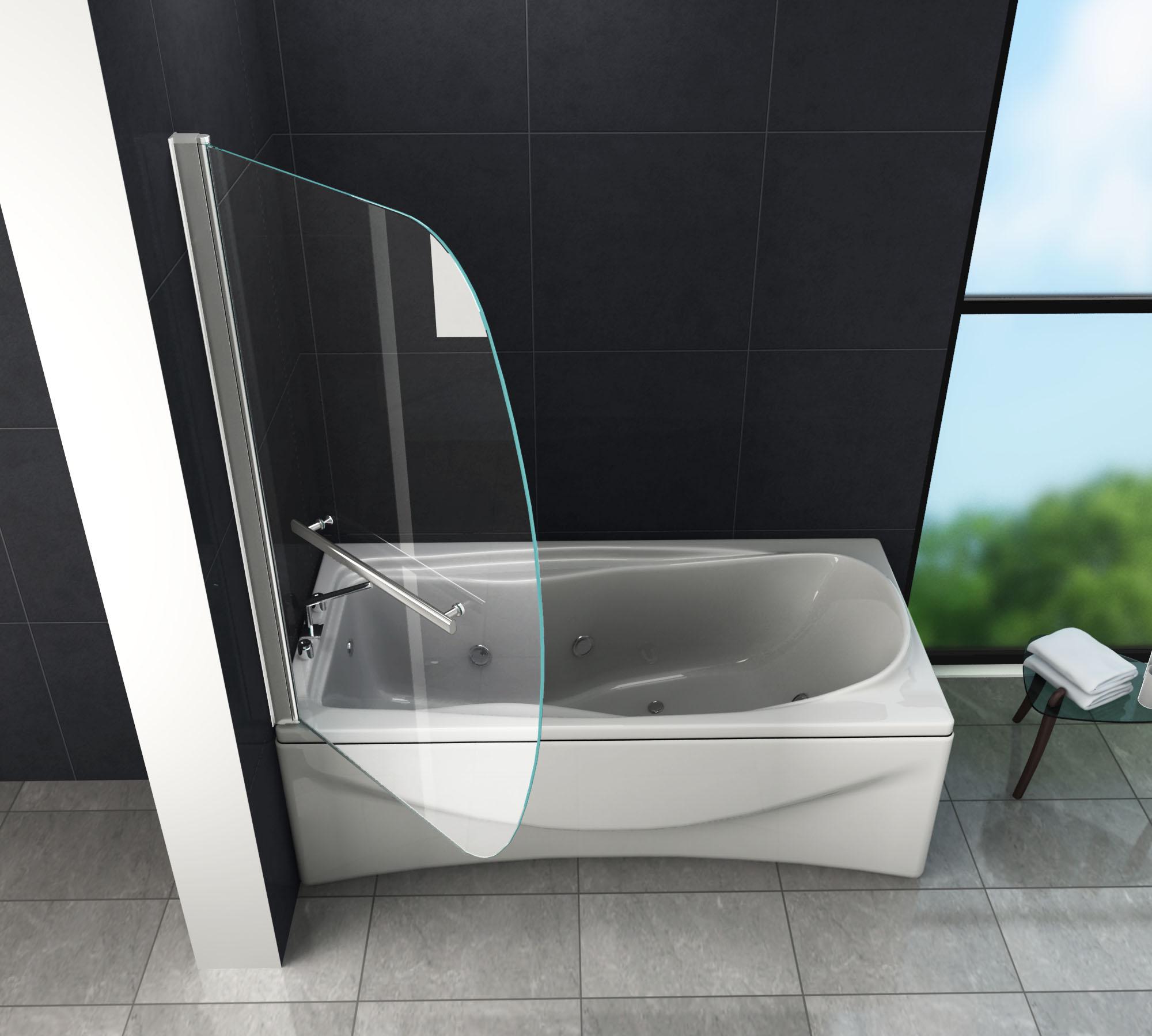 Duschtrennwand Moon 90 X 140 Badewanne Glasdeals