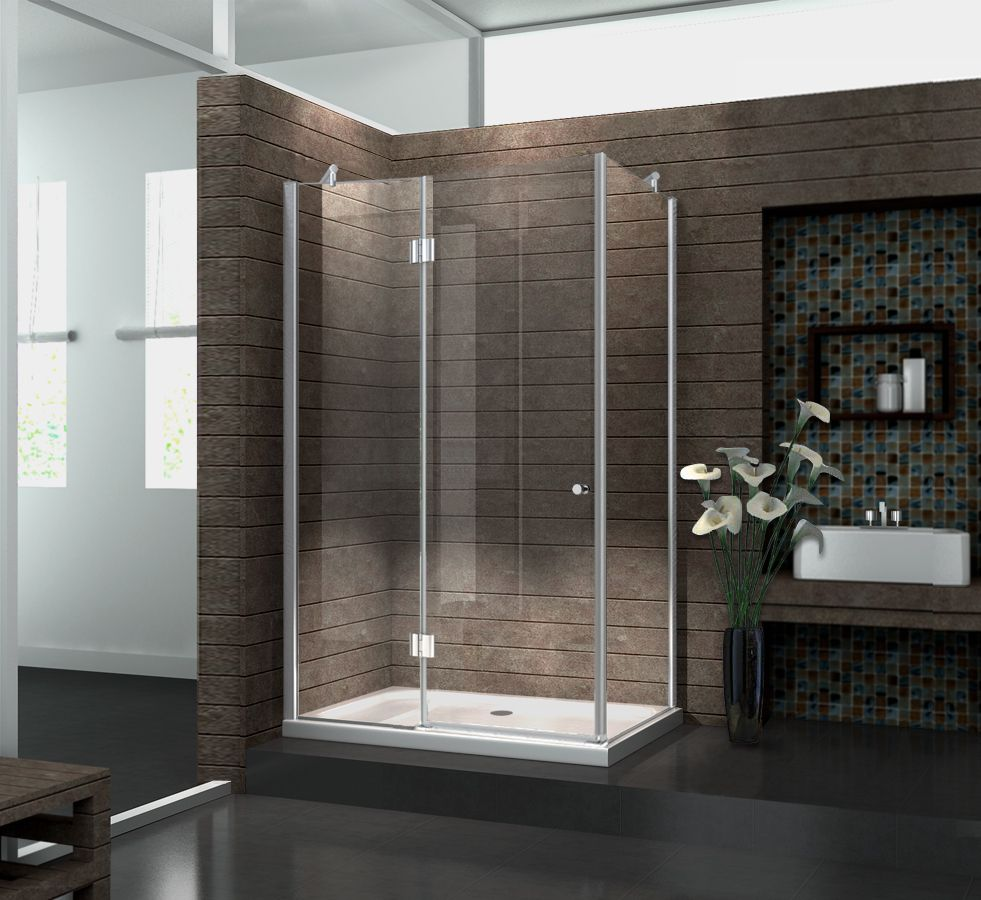 Duschkabine NOVUM 120 x 100 x 195 cm ohne Duschtasse