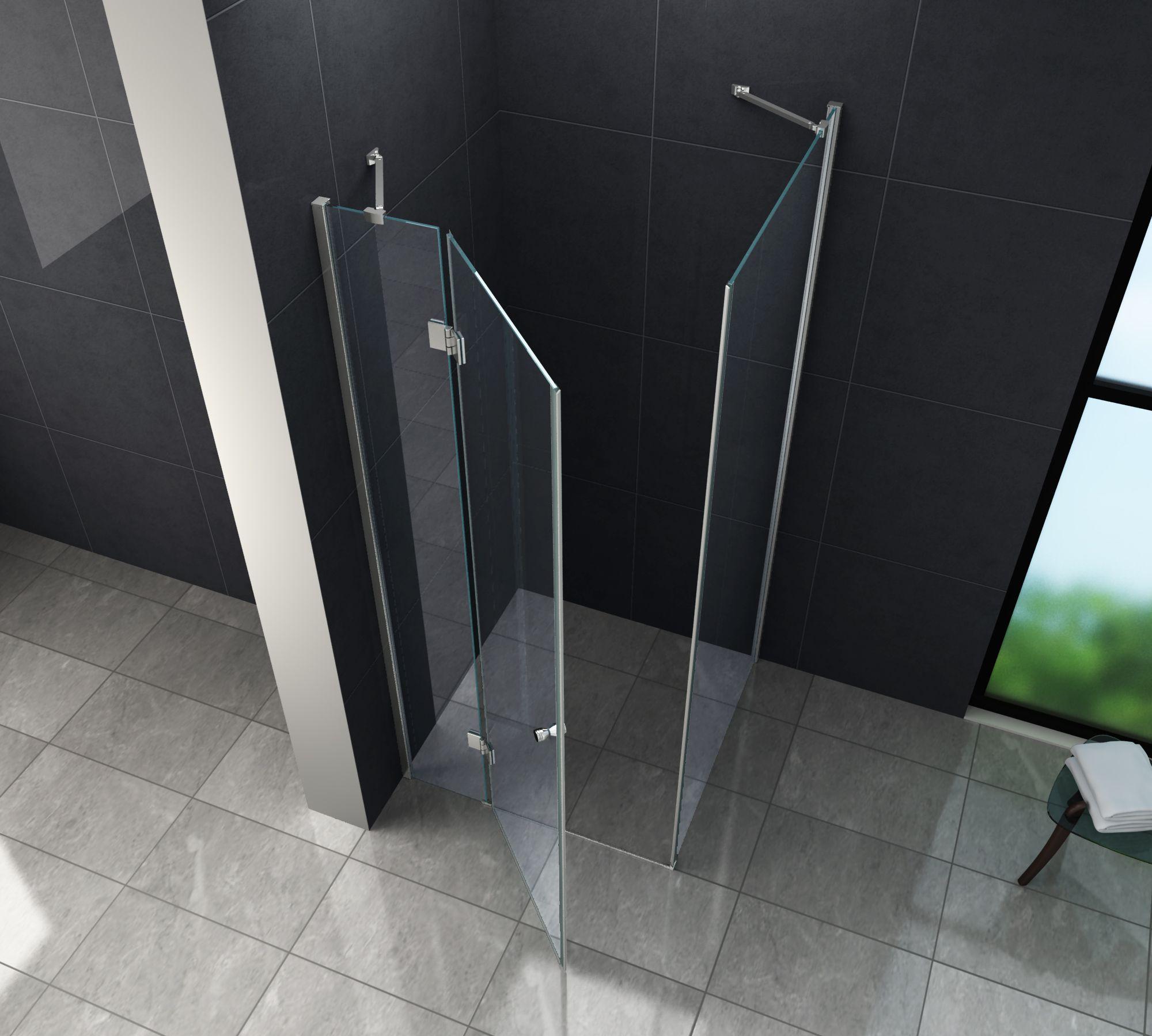 Relativ Duschkabine NOVUM 90 x 90 x 200 cm inkl. Duschtasse - Glasdeals RH88