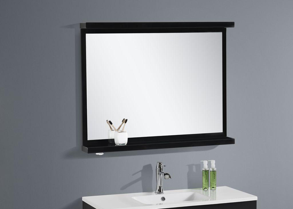 Badmöbel LED - Spiegel OPORTO 90 (schwarz)