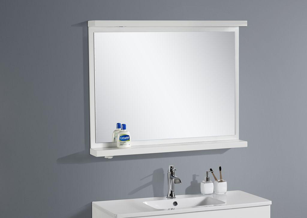 Badmöbel LED - Spiegel OPORTO 90 (weiß)