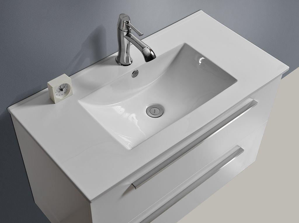 Badmöbel Unterschrank OPORTO 90 (weiß) - Glasdeals | {Waschbecken mit unterschrank weiß 14}