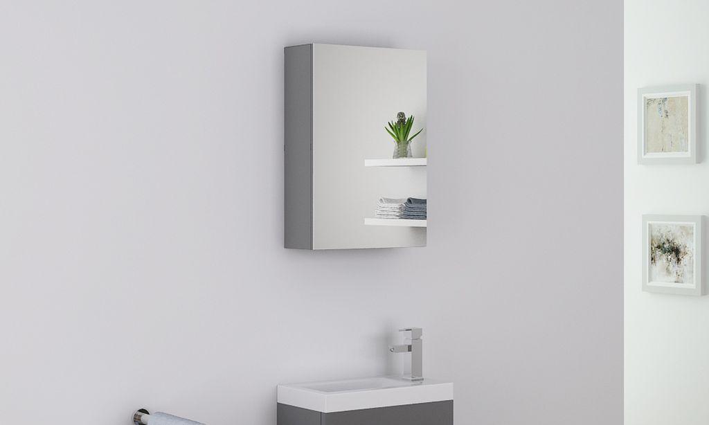 Badmöbel Spiegelschrank PATRO in grau