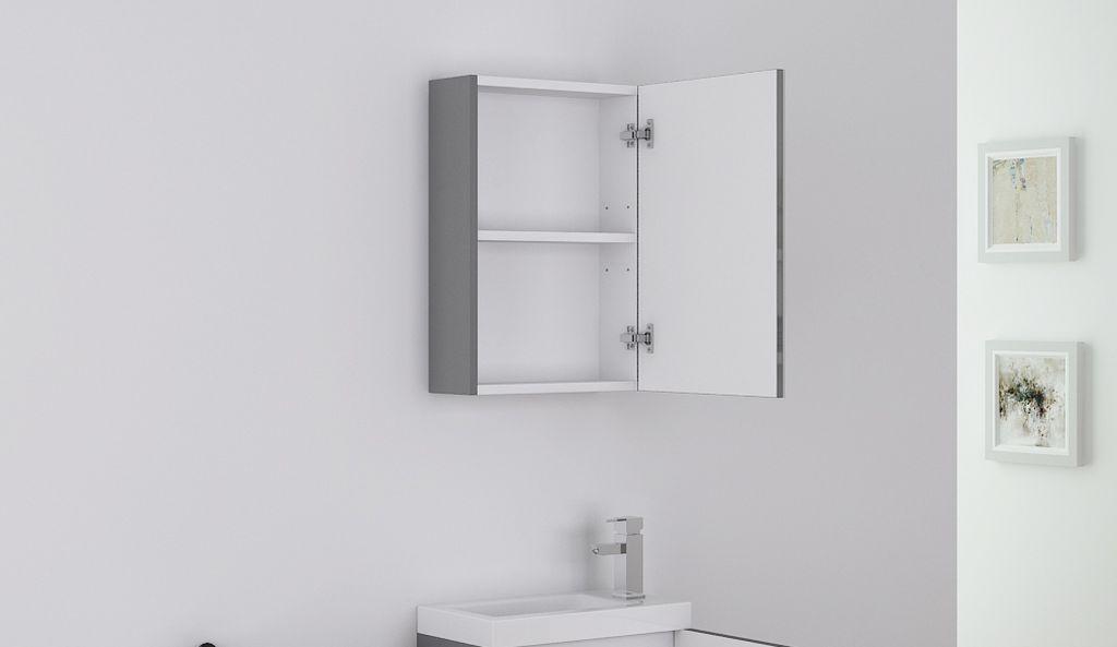 Badm bel spiegelschrank patro in grau alphabad for Hochwertiger spiegelschrank bad