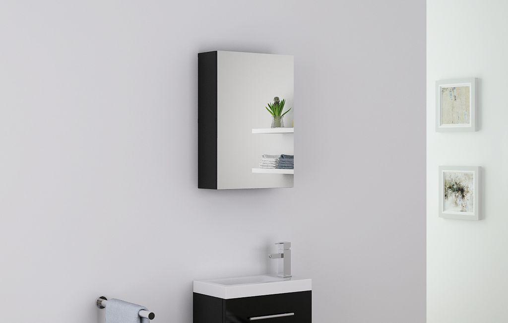 Badmöbel Spiegelschrank PATRO in schwarz