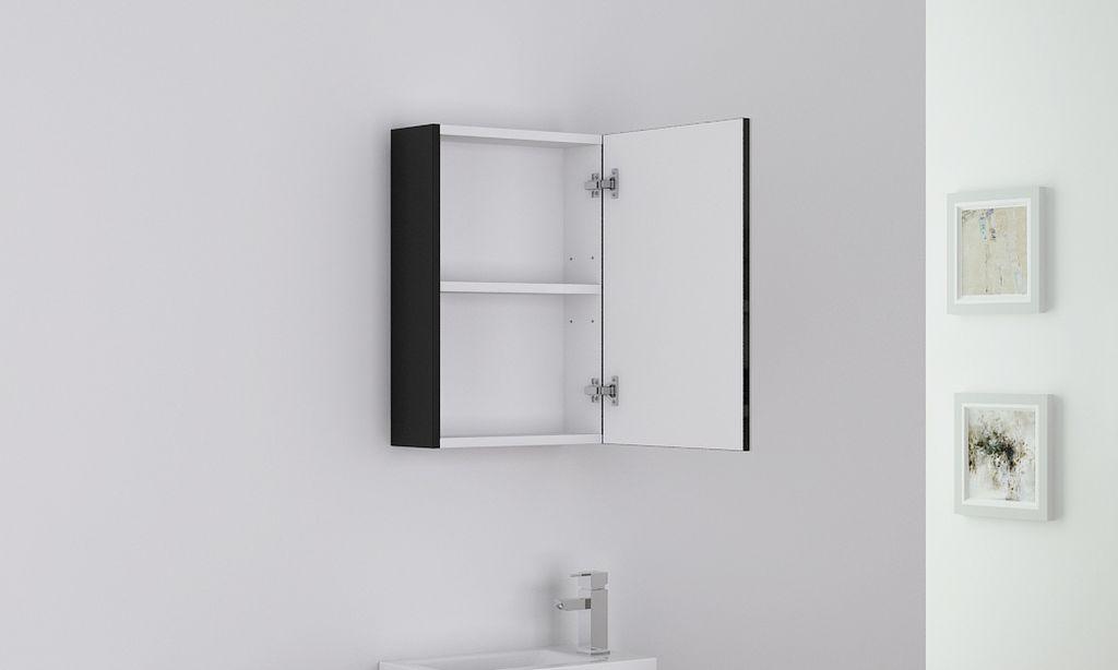 badm bel spiegelschrank patro in schwarz glasdeals. Black Bedroom Furniture Sets. Home Design Ideas