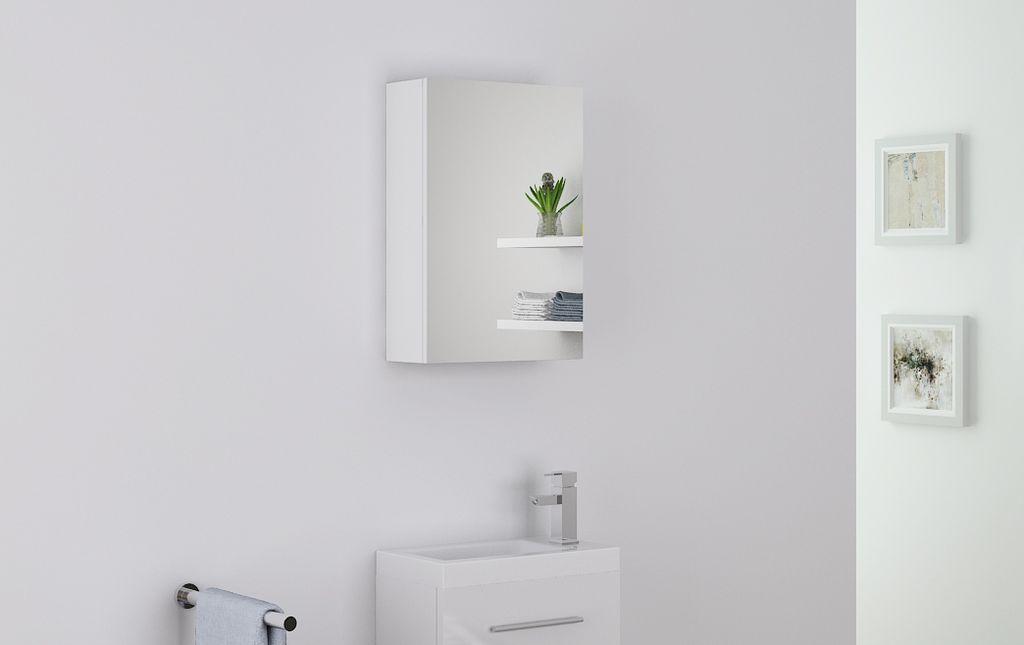 Badmöbel Spiegelschrank PATRO in weiß