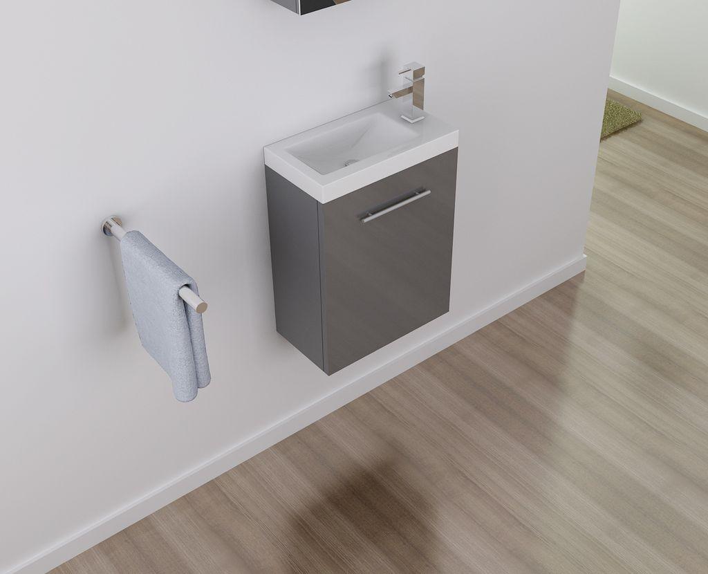 Badmöbel Unterschrank PATRO 45 in grau inkl. Waschtisch