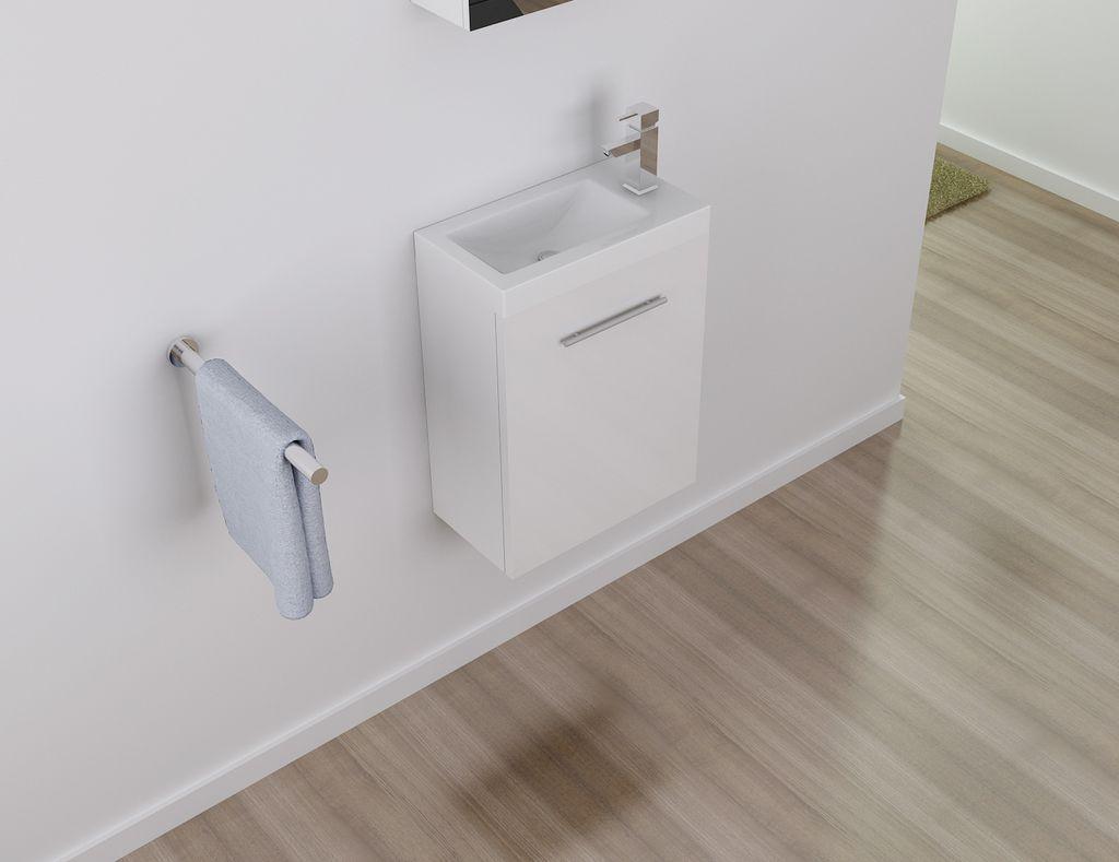 Badmöbel Unterschrank PATRO 45 in weiß inkl. Waschtisch