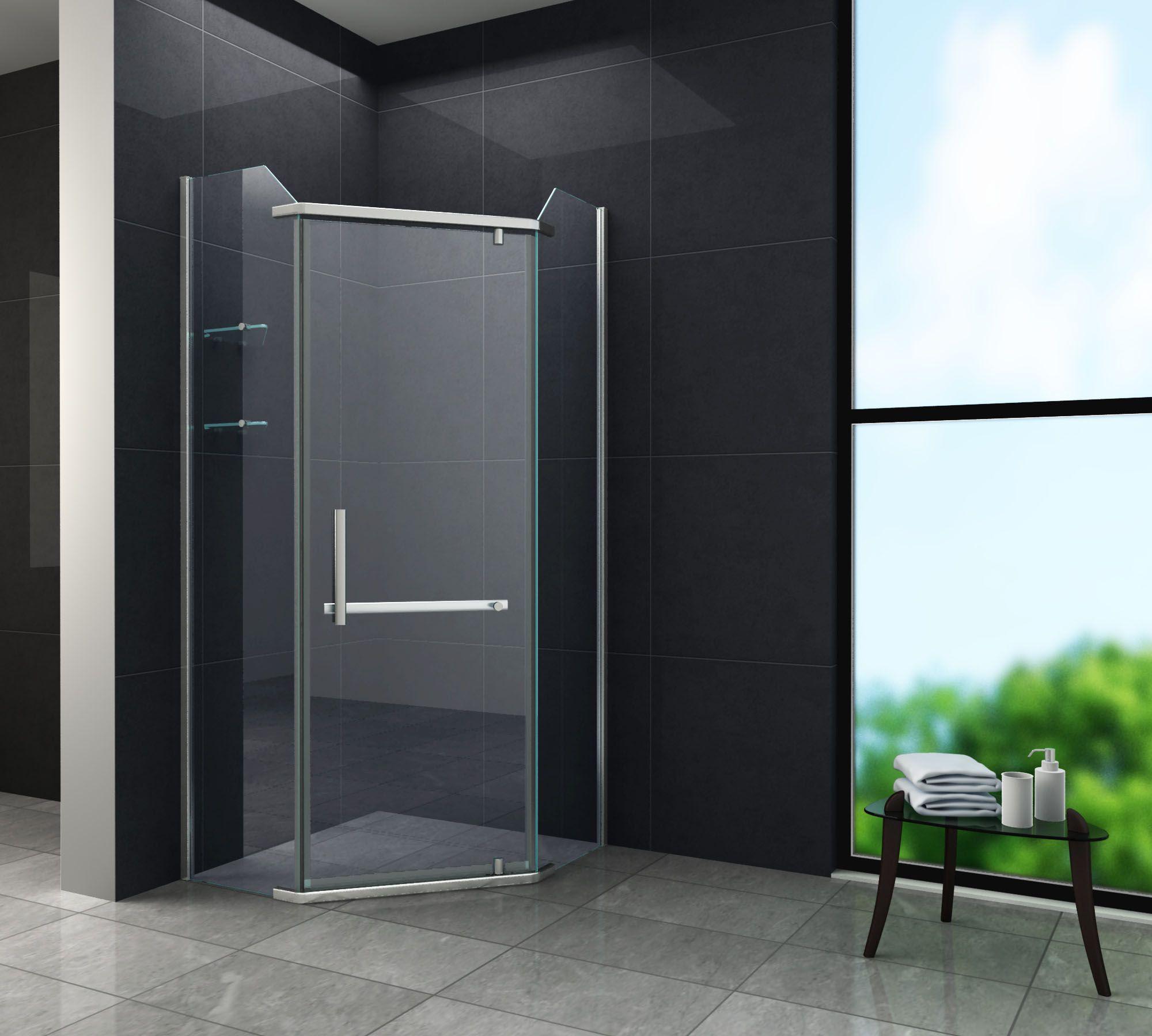 Fünfeck-Duschkabine PENTAGONO 90 x 90 x 200 cm inkl. Duschtasse