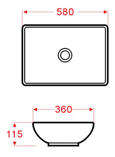 Aufsatzwaschtisch AW2022