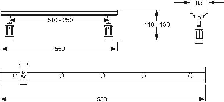 Montage-Set für Einbauwannen