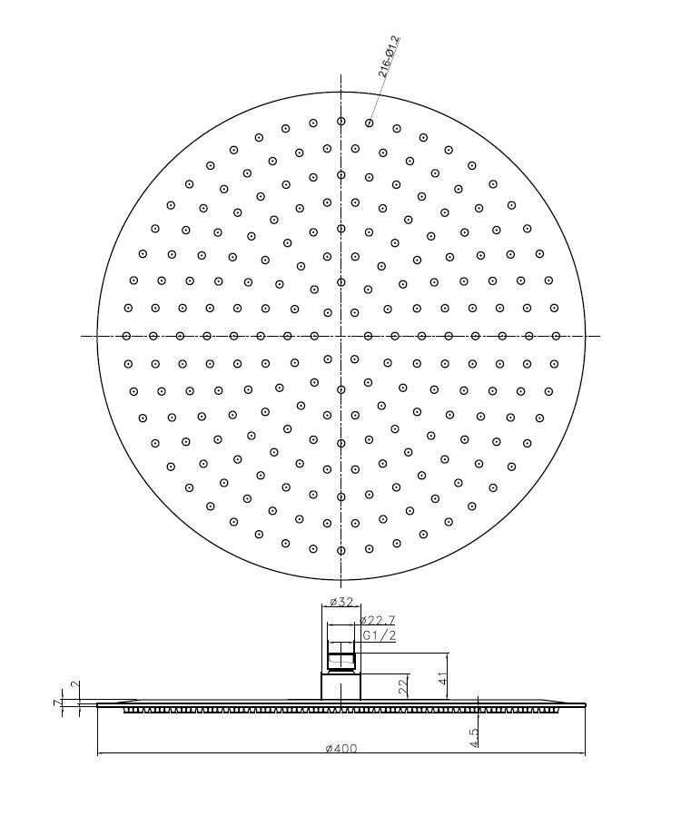 Edelstahl Regenbrause CIRCLE 40