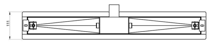 Edelstahl-Duschrinne 100 cm