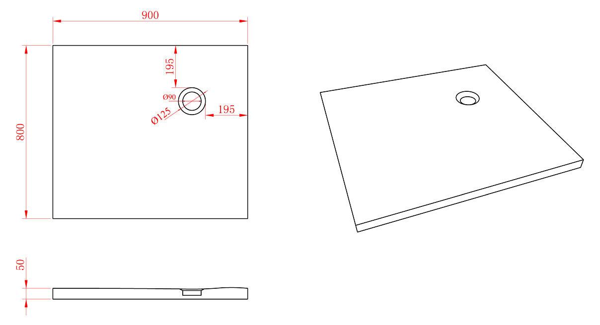mineralguss duschtasse 80 x 90 x 5 cm glasdeals. Black Bedroom Furniture Sets. Home Design Ideas