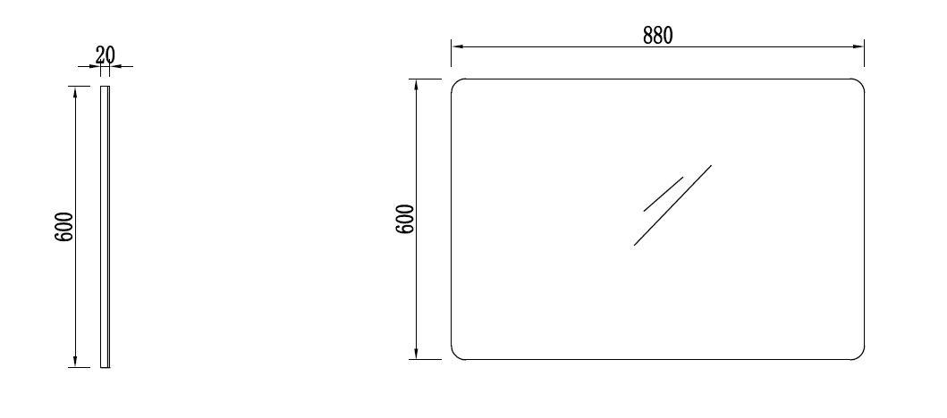 Badmöbel Spiegel OPORTO 90 (schwarz)