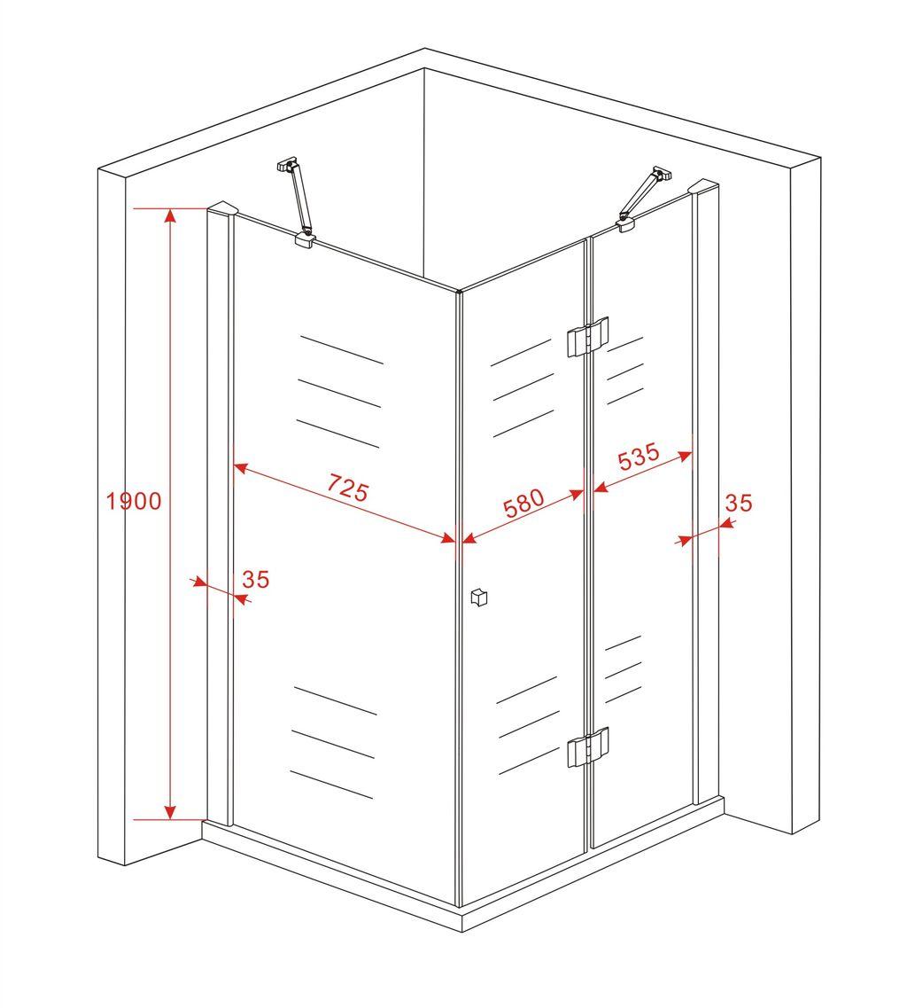 duschkabine recreo 120 x 80 x 190 cm ohne duschtasse glasdeals. Black Bedroom Furniture Sets. Home Design Ideas