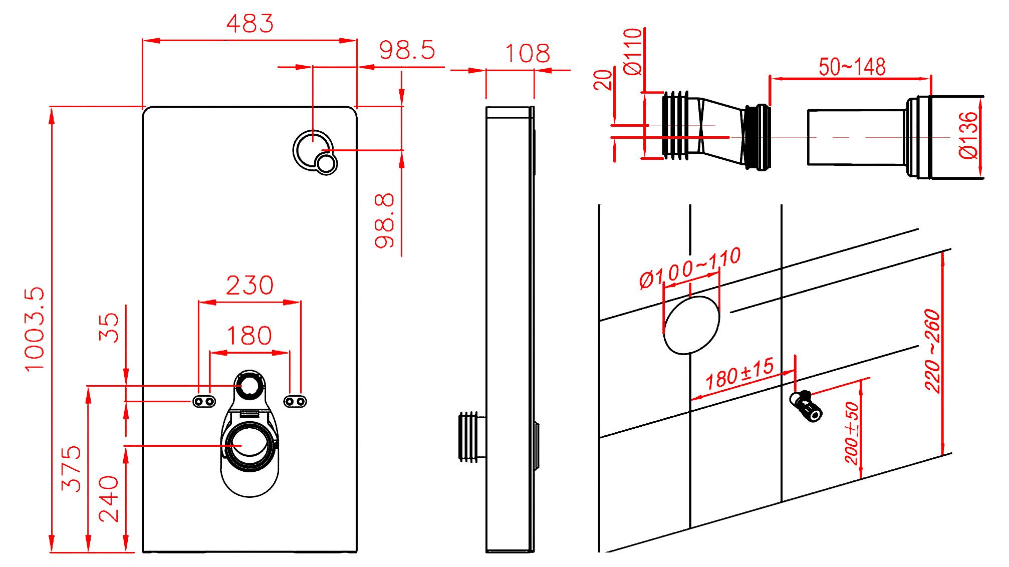 Weissglas Sanitarmodul Fur Wand Wc Inkl Betatigungsplatte Glasdeals