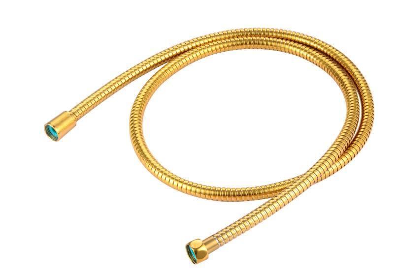 Antibakterieller Brauseschlauch aus Edelstahl in gold 150 cm