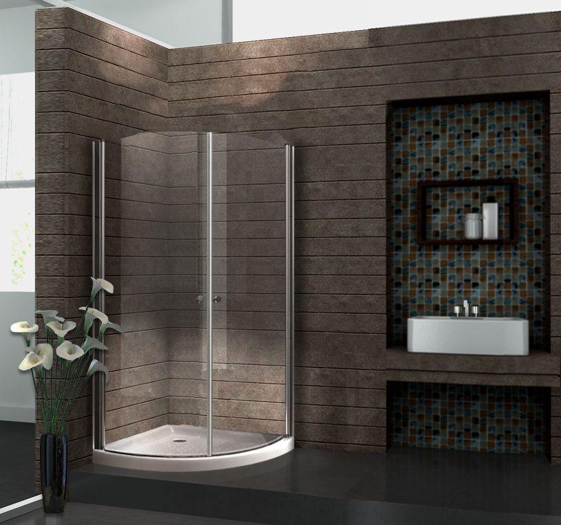 Duschkabine MARISO 90 x 90 x 190 Viertelkreis ohne Duschtasse